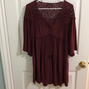 Maroon American Eagle dress